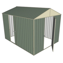 Garden shed gable 1 hinged door 1 sliding door for Garden shed 3x3