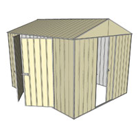 Garden shed gable 1 sliding door 2 hinged door for Garden shed 3x3