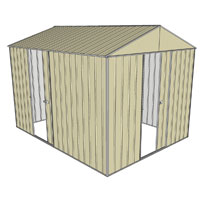 Garden shed gable 1 sliding door 1 sliding door for Garden shed 3x3