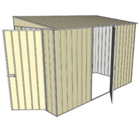 Garden shed skillion 1 hinged door 1 hinged for Garden shed 5x3