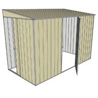 Garden shed skillion 1 sliding door 1 hinged for Garden shed 5x3